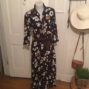 Zara Collection  Maxi Dress - XL black multi print
